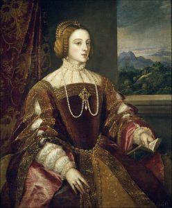 Mujer con abanino