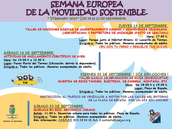 Cartel Semana Europea de la Movilidad Sostenible 2017